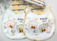 Free shipping! cotton baby bibs various Cartoon Waterproof bib baby Mask type Saliva towel 10pcs/lot
