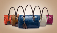 NEW 2013 Fashion Women's Leather Handbags Vintage Shoulder Matching Hand Messenger Bags Clutch Factory Direct High Capacity