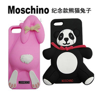 Luxury 3D Panda Moschinos Milan Bear Silicon Case Cover For iPhone 4 4s 4G 5 5s 5G for iphone5s for iphone5 for iphone4s