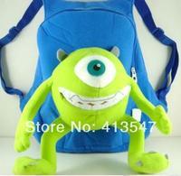 Monsters University Mike Wazowski Kids Cute Bag Backpacks Children School Cartoon Bag Kids Gifts 32 *26 Free Shipping Mochilas