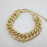 Min Order $10(Mix Order) Free Shipping,Punk style Vintage 18K Gold Plated Alloy Metal Bracelets Handchain Wholesale