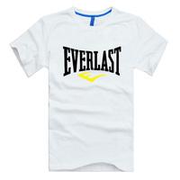 EVERLAST MMA T-shirt Muhammad ALI  Boxing Fight cotton large yards Fashion Brand t shirt men new DIY Style high quality