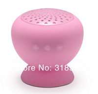 Pink Mushroom MiniBluetooth Speaker Wireless Handsfree Waterproof Silicone Speaker Hifi Portable MP3 AudioPlayer FreeShip