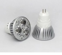 Wholesale -x10pcs High power CREE 9W 3x3W dimmable 110V MR16 GU5.3base pure white Led Light Lamp Spotlight  Free shipping