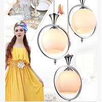 2014 Promotion Hot Sale Lampshade Lustres De Sala Lustre Bedroom Lamp Modern Brief Restaurant Lights Pendant Light Led Bar Lamps