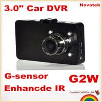 "Free shipping!G2WL NOVATEK  3.0"" Car DVR recorder car camera full  HD 1080P 30fps LCD 160 Degree Wide Angle night vision"