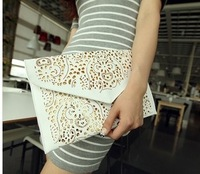 2014 Casual 2013 vintage national women's trend handbag cutout envelope bag day clutch bag shoulder bag cross-body bag