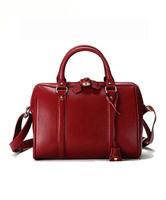 2014 New 100% Genuine Leather Bags Women Handbag Women Leather Handbags Ruffle Solid Color Women Messenger Bag Cowhide B1373