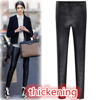 New Fashion Knitting K244 2014 winter women's leggings sexy faux leather thicken pencil pants wholesale and retail FREE SHIPPING