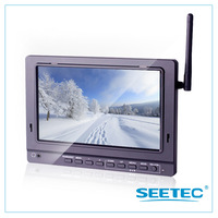 L# 7 inch no blue screen Outdoor FPV LCD monitor with 5.8GHz  wireless receiver and DVR function