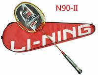 Lining N90-II carbon badminton li ning racket lining racquet/Three color to choose,Free shipping