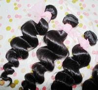 "6A Loose wave virgin hair 4 bundles 12""-26"" inches 100% Peruvian human hair weave wefts WestKiss brand NEW"