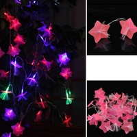 5M 27 Fiber Optic Pink Flower Fairy Wedding Patry Outdoor/Indoor Decor Xtmas Christmas String LED Light
