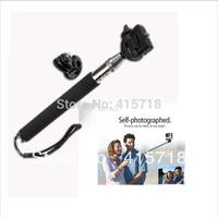 GoPro HERO2 3 Extendable go pro Camera accessories/telescope Pole Mount Portable Monopod Handheld Tripod Mount Adapter +Silver