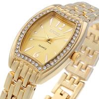 2014 Dropshipping unisex  fashion rose gold rhinestone bracelet  ceramic couple wristwatches 8645B-M