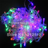 Holiday / Christmas Decoration 110v / 220v 10M 100 LEDs Led String Lights With American and EUR Plug Outdoor Lighting