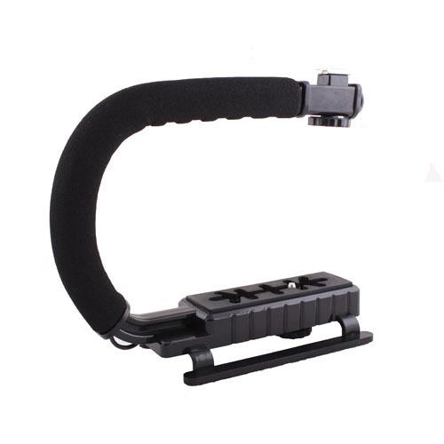 C Shape flash Bracket holder Video Handle Stabilizer Handheld Grip for Gopro DSLR Camera Tripod Mount Adapter Screw Flash light(China (Mainland))
