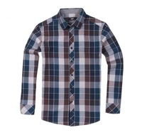 2013 Winter 2014 Spring Mjx Tidal Current Male 100% Cotton Plaid Shirt for Male Casual Long-Sleeve Shirts for Men Outerwear