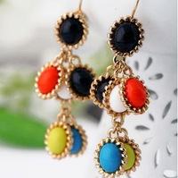 (mix order) Free Shipping & Fashion accessories candy color women's sweet earrings  TN-5.99
