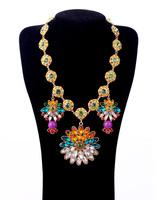 Fashion accessories flower bohemia gem women's necklace pendant necklaces pendants best friend