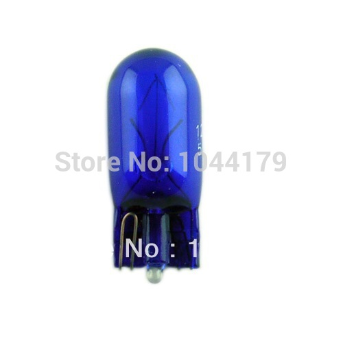 GM W5W T10 lights indicators Nature Blue Miniature 12V5W Wedge Car Side Wedge Light Lamp Tail Light Free Shipping 10Pcs/set(China (Mainland))