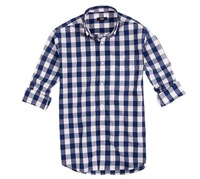 2013 Winter 2014 Spring Mjx Long-Sleeve Square Collar 100% Cotton Fashion Plaid Shirt for Male XS-XXXL Plus Size Casual Shirt