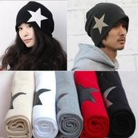 Hot Sale! Free Shipping New Fashion Korean UNISEX Men & Women Star Knit Hat Skull Cap Ski Knit Hat