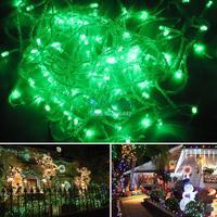 HOT!! 20M Green Led String Light 200 LEDS Wedding Party Xmas Christmas Tree Decoration Lights Lighting 220V EU 15577