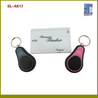 90dB RF Wireless Remote 2 in 1 Super Key Finder Alarm With 1 Credit Card Shaped Transmitter+ 2 Keychains Receivers TypeB