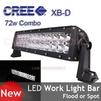 New Design!!72W LED Work Light Bar 12V 24V IP67 Spot&Flood Combo For 4WD 4x4 Offroad Light Bars TRUCK BOAT TRAIN JEEP