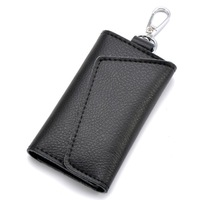 Drop Shipping Genuine Leather Key Wallets Men Card Case Car Key Bag Unisex Free Shipping BB024