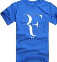2014 personality Roger Federer RF  Tennis T Shirt  Custom DIY Tee band short t-shirt printing, round neck 100% Cotton 201312256