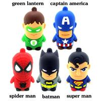 Pen drive USB flash drive Super Hero USB Spider man Batman Green lantern Captain America Super man 8GB 16GB 32GB 64GB pendrive