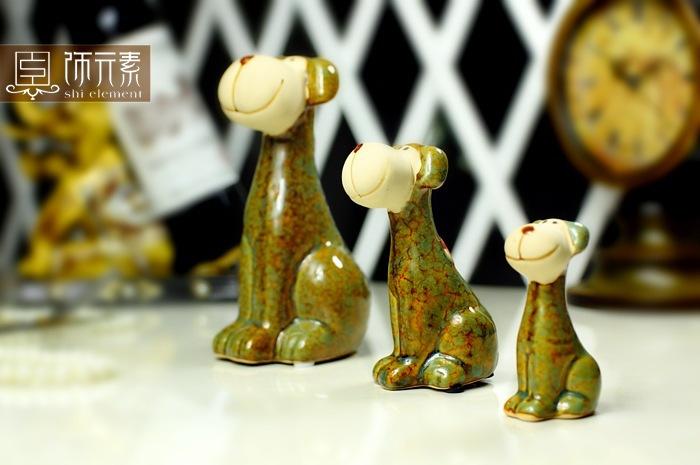 Online kopen wholesale porseleinen beeldje hond uit china porseleinen beeldje hond groothandel - Decoratieve platen ...