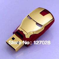 Free shipping Full Capacity 16GB 32GB New Flawless Avengers Iron Man Led Flash Drive Iron Man Usb Pen Drive Iron Man