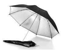 "2pcs 33"" 83cm photography Pro Studio flash Reflector Black Silver Umbrella"