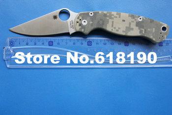 """Little Defective Spyderco C81GPCMO2 ParaMilitary2 Folding Knife 3-7/16"""" S30V Satin Blade, Digital Camo Handles"""