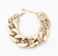 B17 all-match coarse chain gold bracelet silver bangle bracelets & bangles women bracelet free shipping