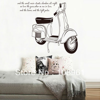 Free shipping Removable wall stickers Black Motorcycle giant wall decals Decor DIY home decoration Home Sticker