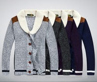 Free shipping Men's Wool cardigan sweater coat