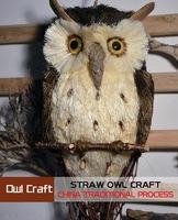Handmade Pure hand-woven owl Patron saint hanging decoration hanging eagle in glass Folk art crafts straw owl gift Medium Ben