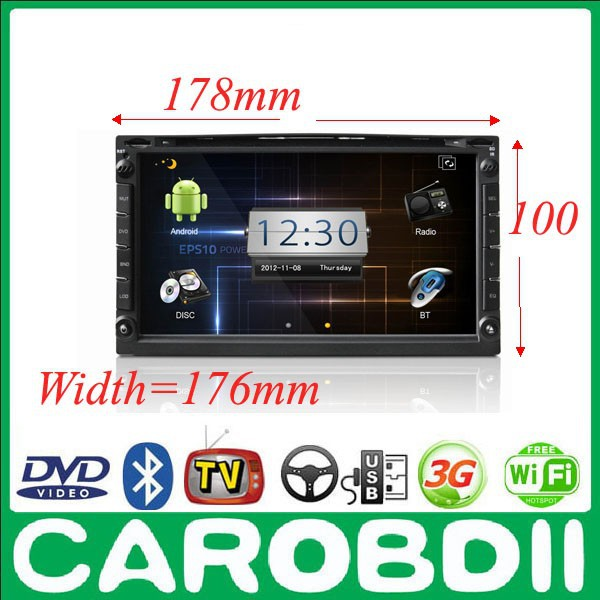 Android Universal Car DVD Player 6.95' 178*100*176mm With GPS 3G Wifi Hotspot RDS Analong TV Bluetooth Radio Car DVD(China (Mainland))