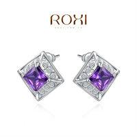 Christmas Delicate Large zircon Earrings,Gift to girlfriend is beautiful,Pure handmade fashionable elegance,2020123460