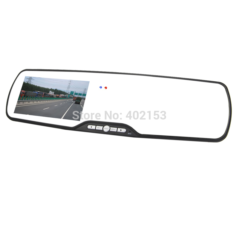 """1080FHD 4.3"""" LTPS Motion Detection Car Rearview Mirror DVR Camera Video Recorder Night Vision Wholesale Free Shipping #100273(China (Mainland))"""