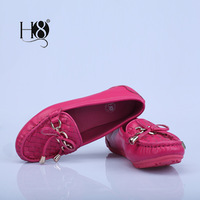 Colorful fashion simple leather women's flat shoes openings