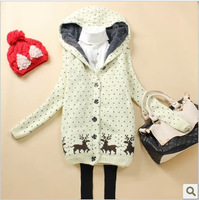 New 2013 winter animal hoodies women free shipping sweatshirt cardigan tarcksuit for women