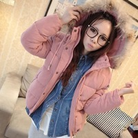 women warm coats jacket winter fashion new 2013, Slim simple elegant comfortable, padded, cotton, fur collar parka