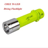 1pc 2014 New Diving Flashlight Cree T6 LED 1000 Lumens Waterproof LED Torch By 3*AAA Battery + Free Shipping