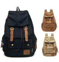 Free shipping Vintage Canvas Backpack Rucksack mountaineering travel bag children /Men/ Women school backpack
