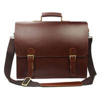 "High class men's leather briefcase men genuine leather Messenger bag 15"" laptop briefcase business case male man shoulder bag"